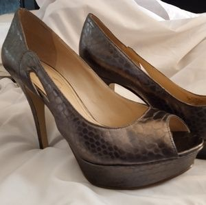 Pewter/Gray Snakeprint Heels by Marc Fisher